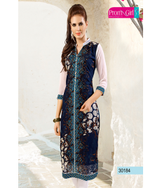 Blue and white kurti